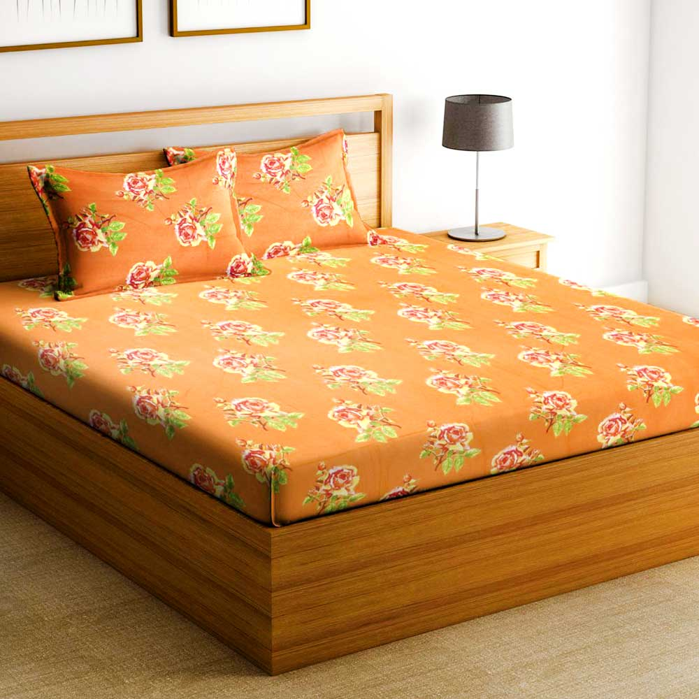 Bombay Dyeing Golden Moments Verve Bedsheet With Two Pillow Covers