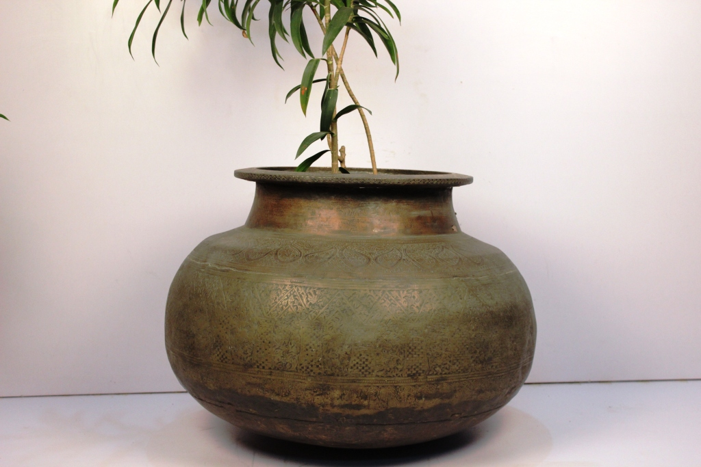 Copper Bronze Planter-20 X 25.5 Inches