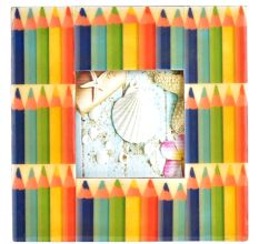 Handmade Colored Pencils Photo Frame