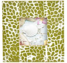 Green White Contemporary Design Photo Frame