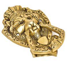 Royal Brass Lion Face Door Knocker