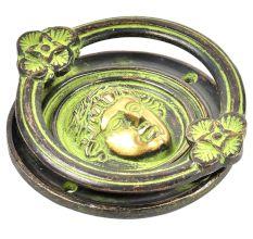 Handmade Roman Design Door Knocker With  Patina