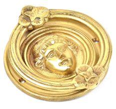 Golden Handmade Roman Design Door Knocker