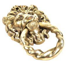Brass Lion Head Ring Door Knocker