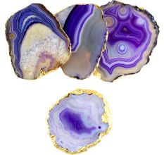 Purple Agate Coasters Online Set of 4 Pieces