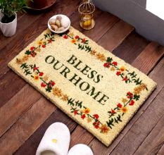 SWHF Premium Coir and Rubber Quirky Design Door and Floor Mat : Bless Your Home