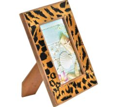 Leopard Print Background Magnetic Photo Frame