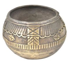 Etched Design Tribal Brass Bowl Or RIce Measure Bowl