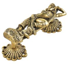 Brass Hindu Goddess Statue Carved Door Handle