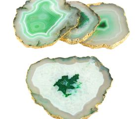 Aqua Green Agate Coasters Online Set of 4 Pieces