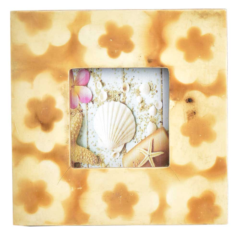 Abstract Flowers Photo Frame