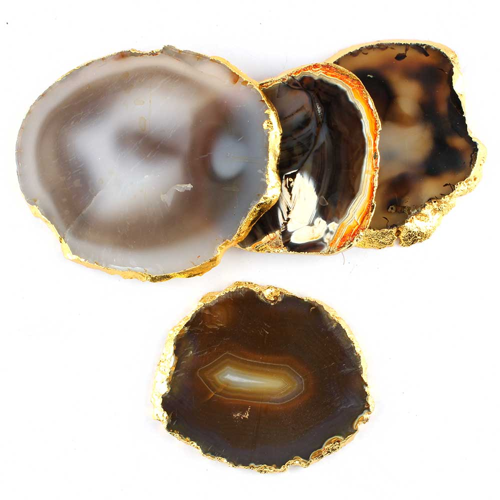 Brown Agate Coasters Online Set of 4 Pieces