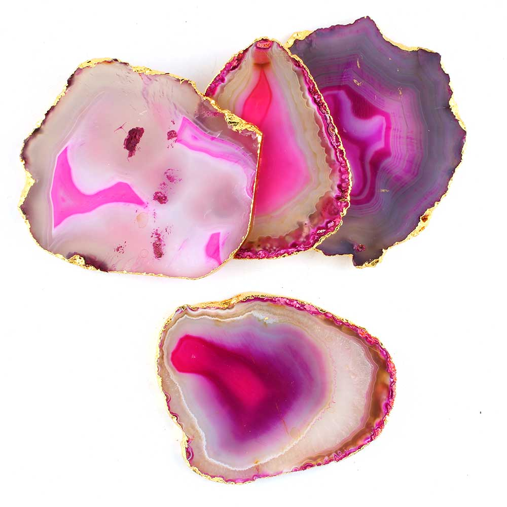 Pink Agate Coasters Online Set of 4 Pieces