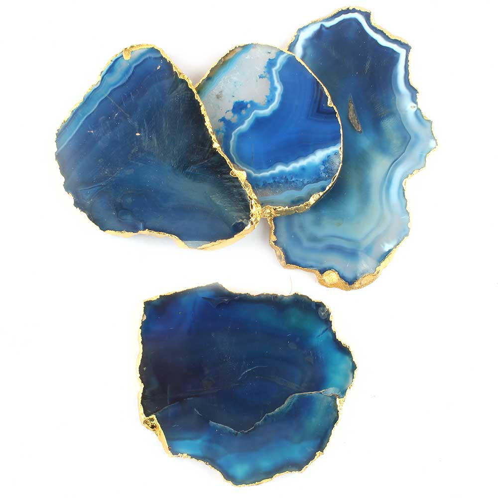 Slate Blue Agate Coasters Online Set of 4 Pieces