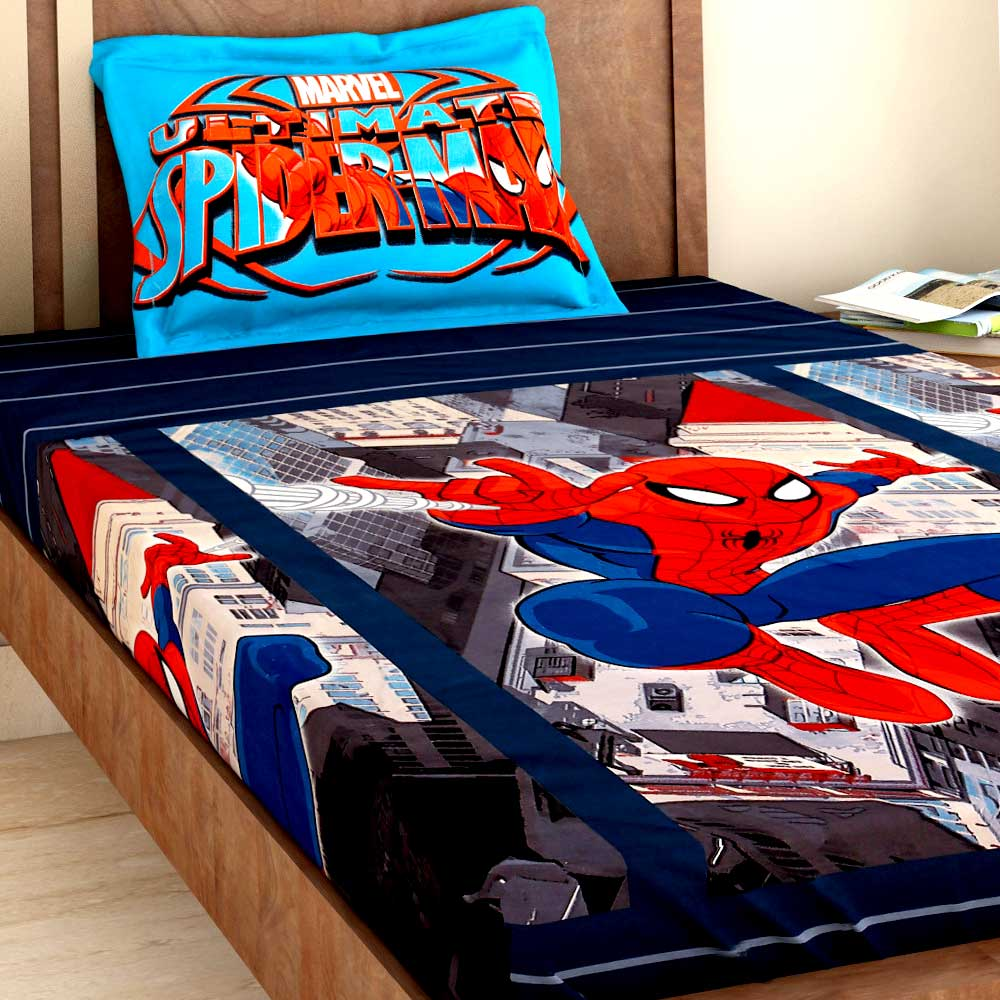 Bombay Dyeing Disney Kids Bedsheet : Ultimate Spider Man