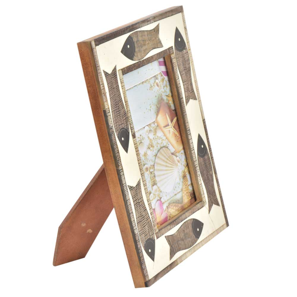 Handmade Wooden�Fishes Photo Frame