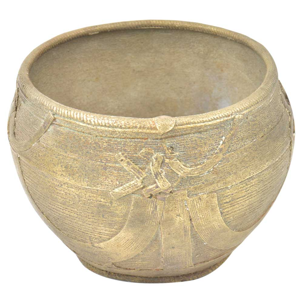 Indian Tribal Handmade Wired Design Brass Bowl