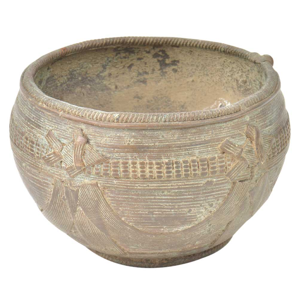 Rustic Style Brass Sacred Religious Offering Bowl
