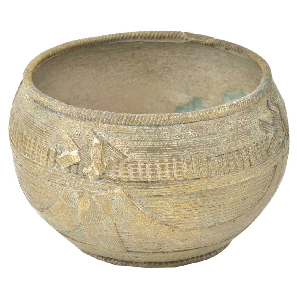 Handcrafted TribalBrass Bowl With Pattern