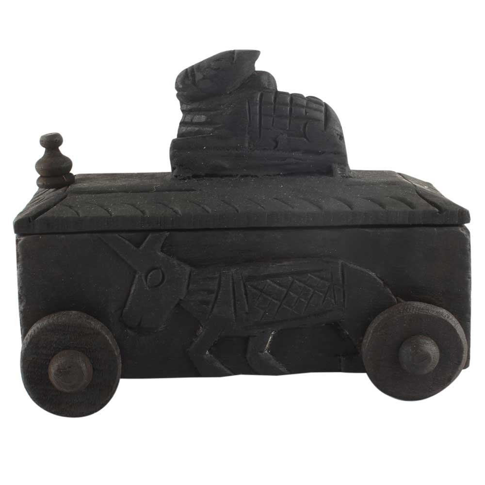 Carved Decorative Nandi Wooden Box