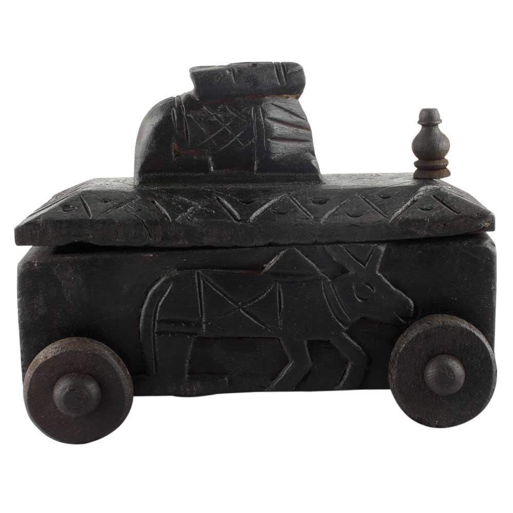 Decorative Nandi Wooden Box Indian Handicraft