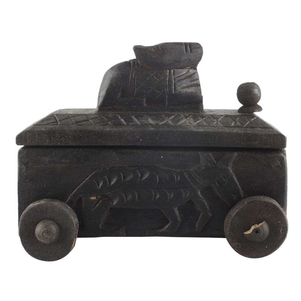 Nandi Wooden Spice Box South Indian Box