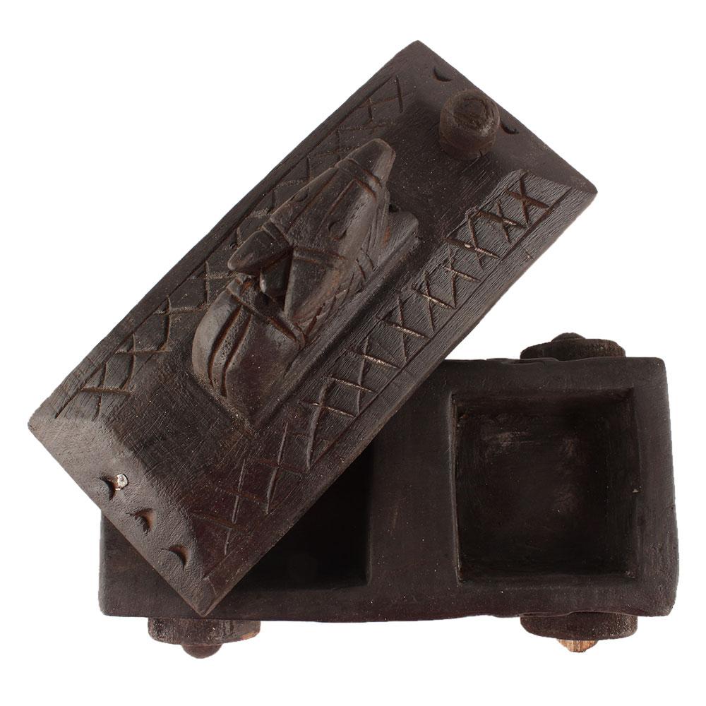 Nandi Wooden Spice Box South Indian Box
