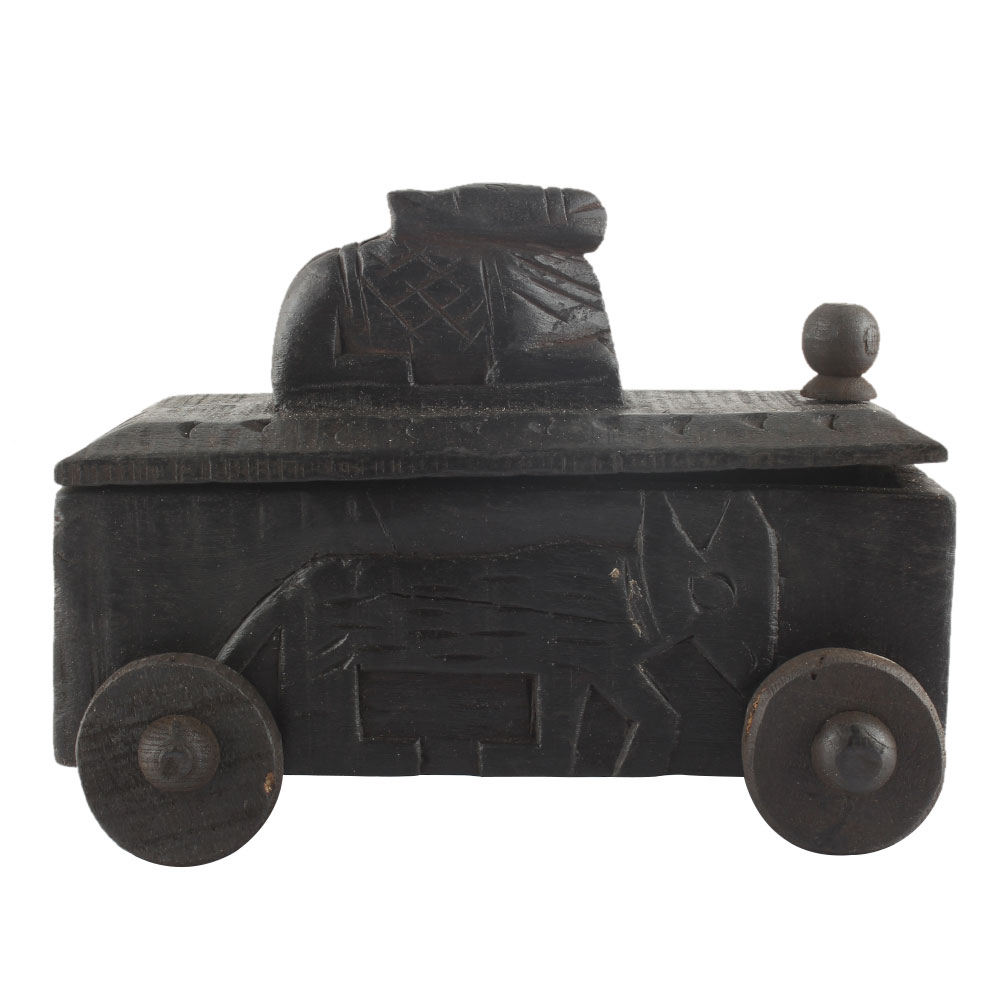 Decorative Nandi Wooden Box South Indian Spice Box