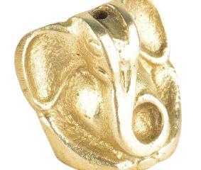 Small Brass Sitting Ganesha Figurine