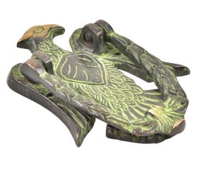Solid Brass Eagle Door Knocker With Patina