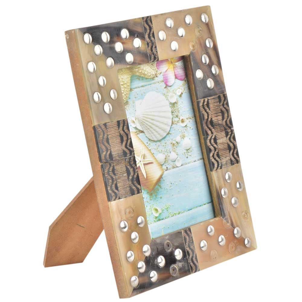 Handmade Studded Designer Wooden Photo Frame