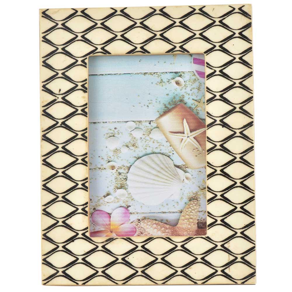 Black And Cream Mogul Design Photo Frame