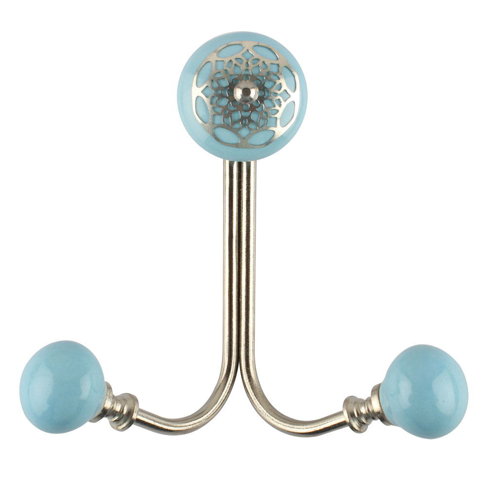 Turquoise Strewn Flat Wired Hooks Online