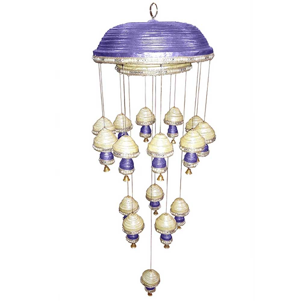 Purple Paper Wind Chime Or Mini Chandelier