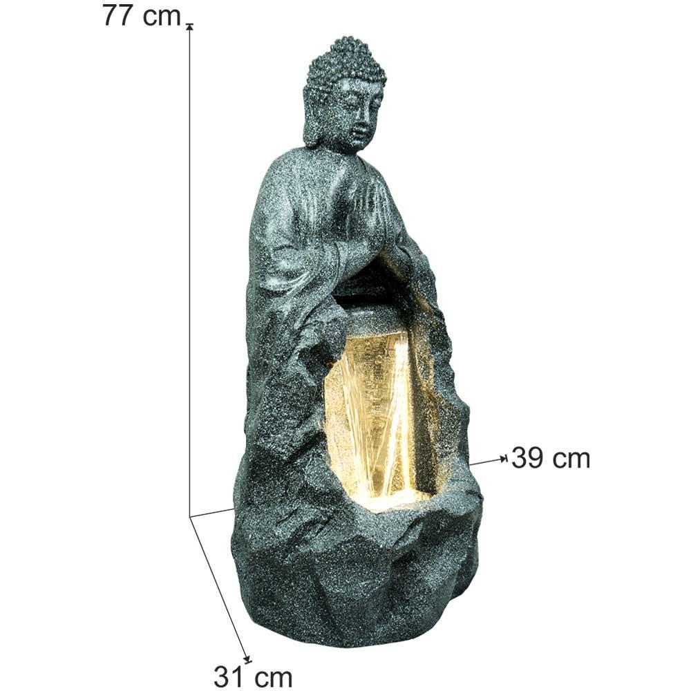 Namaskar Lord Buddha Water Fountain In Black