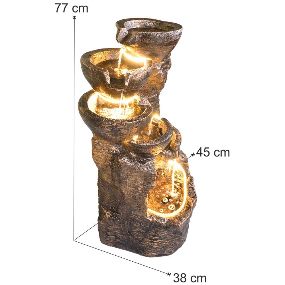 Water Fountain 5 Bowl Rock In Copper Colour