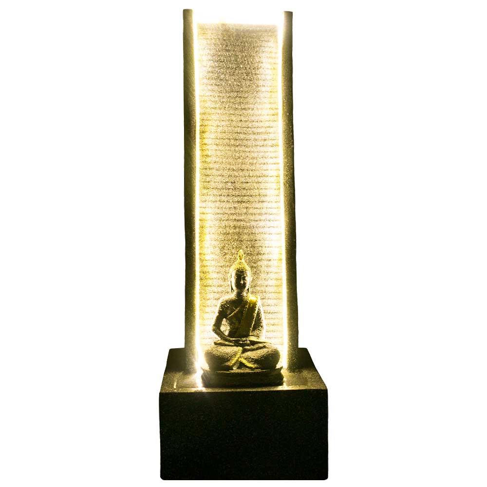 Slate Water Fountain with Lord Buddha Statue Large