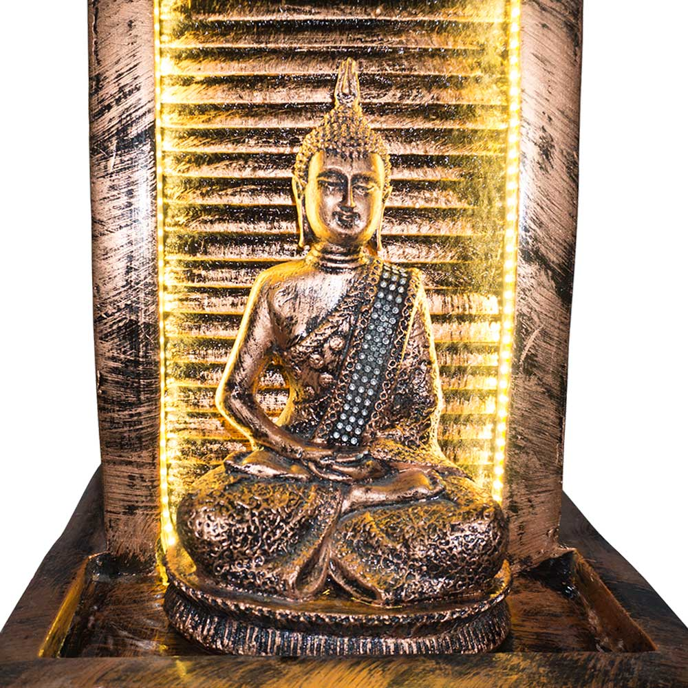 Designer Slate Water Fountain with Lord Buddha Statue Large