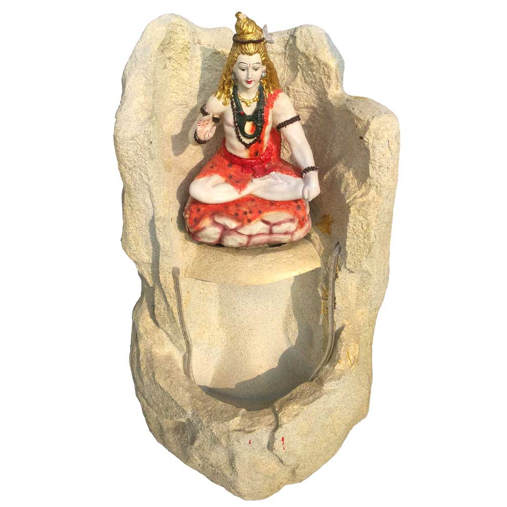 Pahadi Lord Shankar Water Fountain With Black Hair