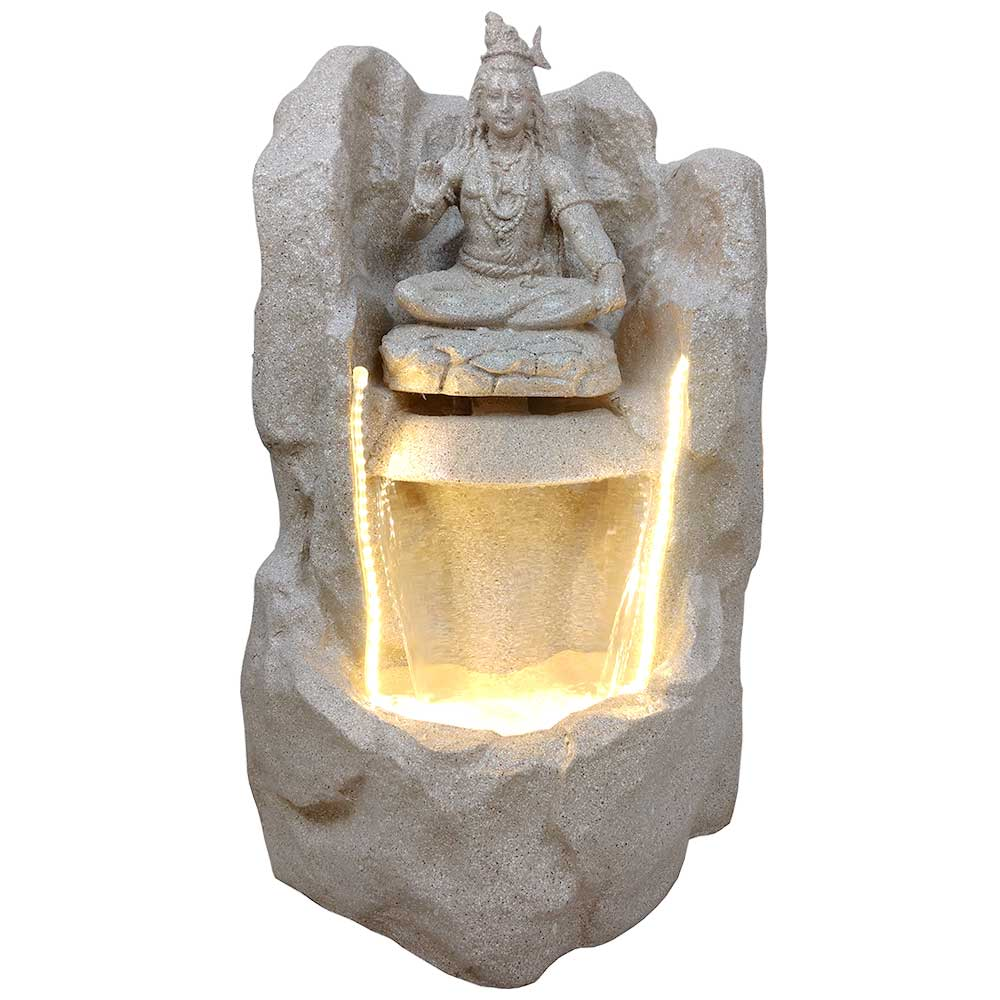 Pahadi Lord Shankar Water Fountain In Yellow