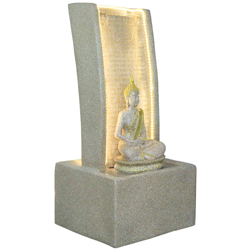 Slate Water Fountain With Lord Buddha Statue Small