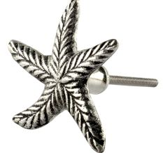Silver Starfish Metal Knobs