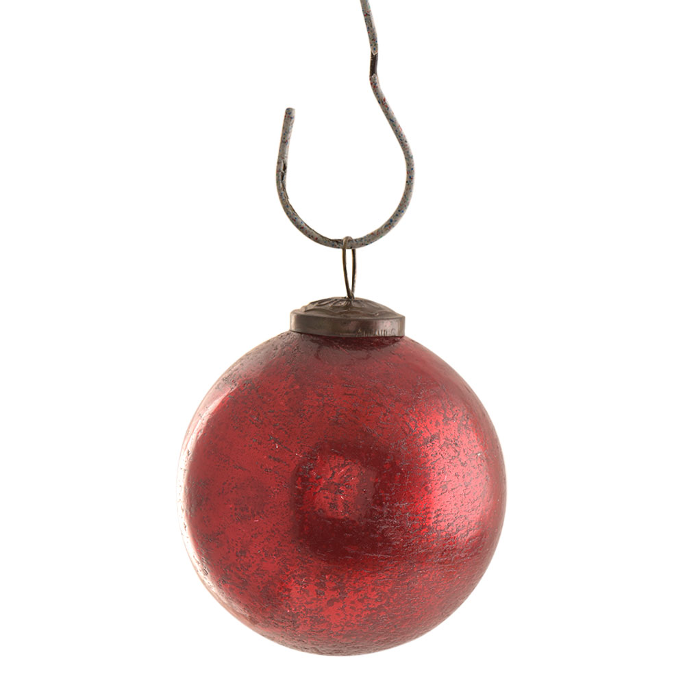 Antique Red Round Christmas Hanging