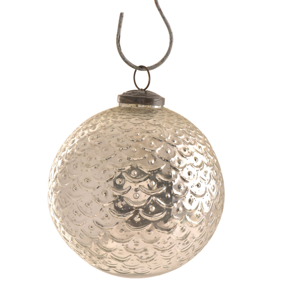 Silver Round Big Christmas Hanging