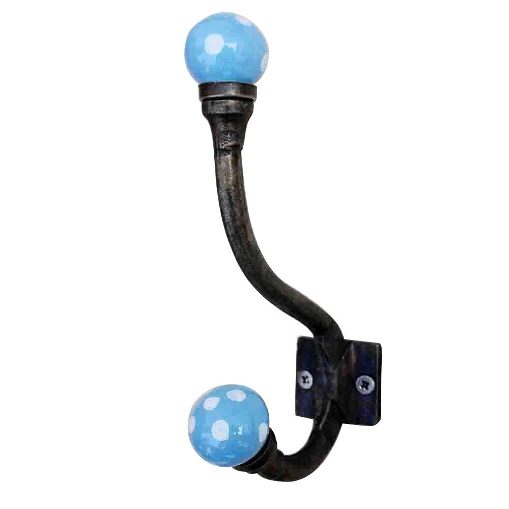 Turquoise Dot Iron Hooks-EHG-09