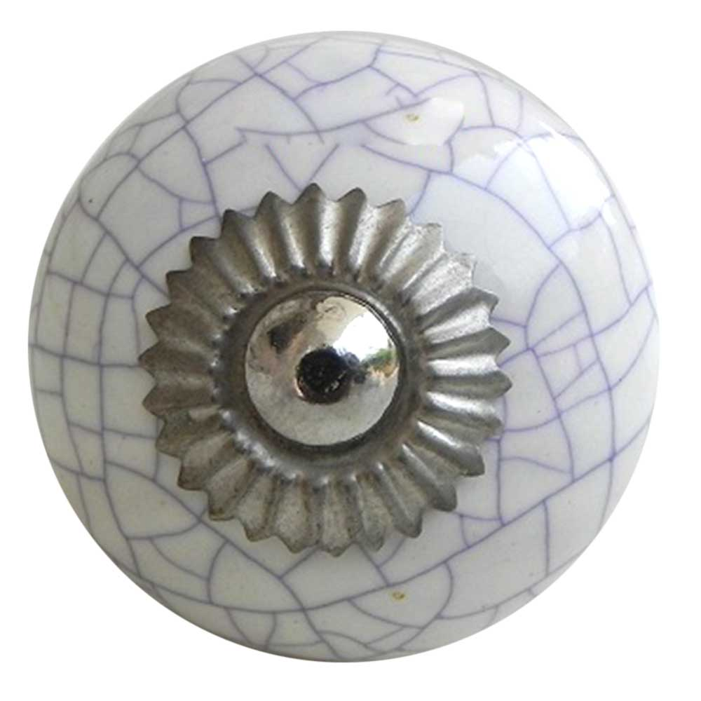 White Purple Crackle Ceramic Dresser Knob Online