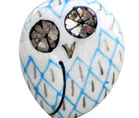 Blue Owl Drawer Bird Knob