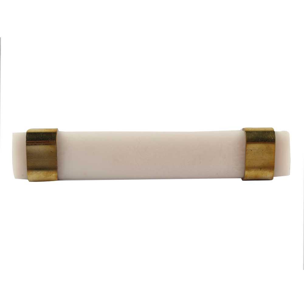 Milky White Resin And Brass Door Handles