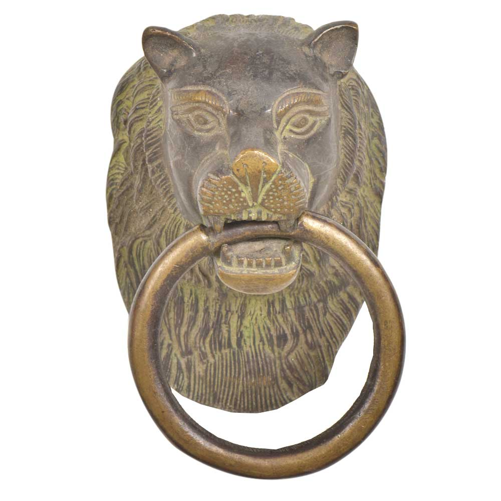 Brass Handcrafted Lion Head Door Knocker