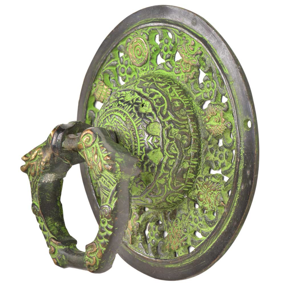 Handmade Ornate Green Brass Door knocker